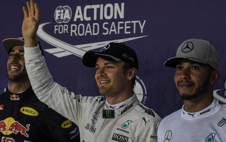 GP Singapore: Ricciardo, Rosberg e Hamilton