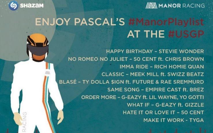 Pascal Wehrlein, la playlist regalata di Manor