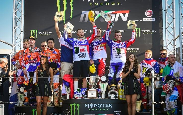 Motocross delle Nazioni, il podio
