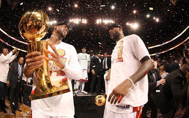 Dwyane Wade e LeBron James ai tempi dei Miami Heat