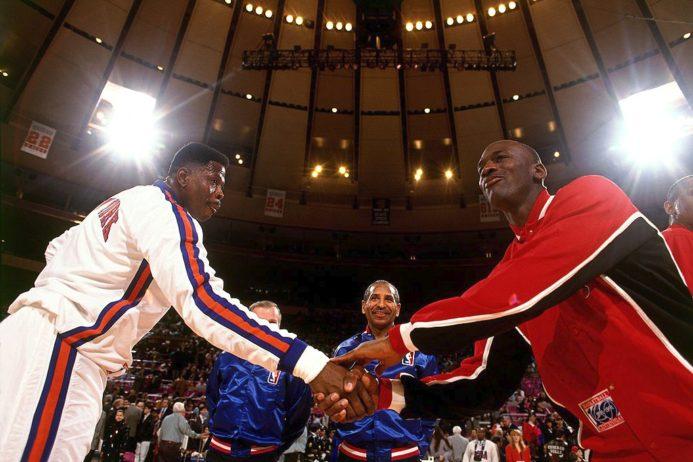 Patrick Ewing, New York Knicks e Michael Jordan, Chicago Bulls