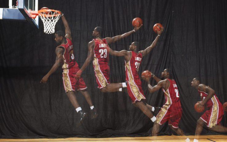 LeBron James allo shooting fotografico dei rookies