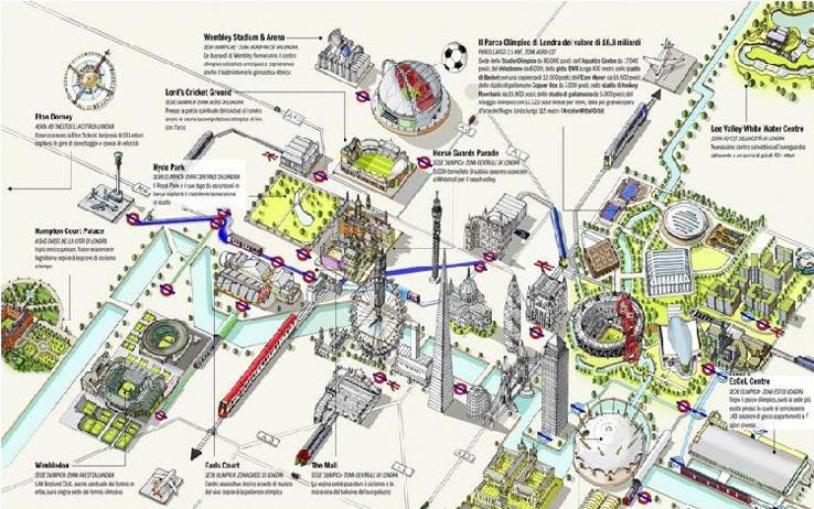 Londra Cartina.Londra 2012 In Una Mappa Tutti Gli Impianti Dell Olimpiade Sky Sport